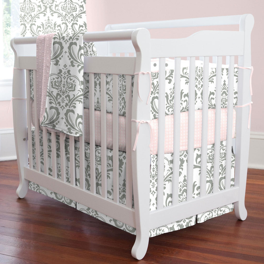 Product image for Gray Traditions Damask Mini Crib Bumper