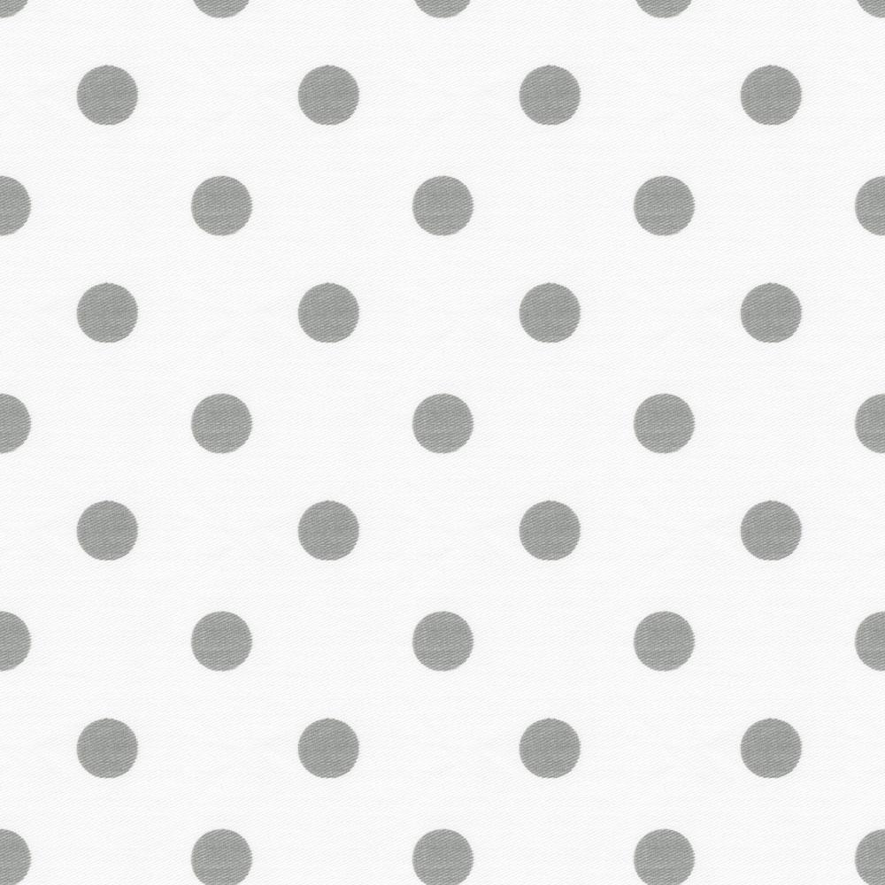 Product image for White and Gray Polka Dot Cradle Sheet