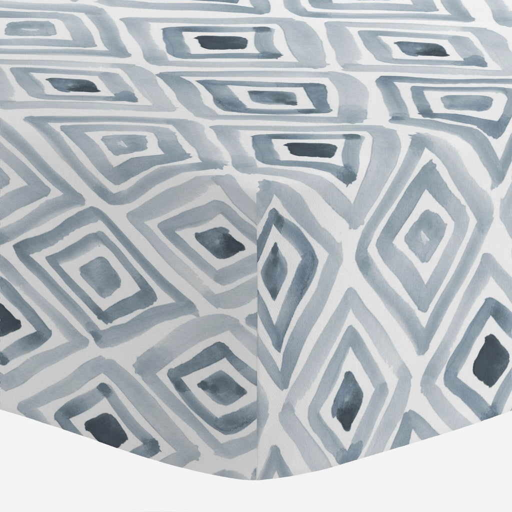 Product image for Steel Blue Painted Diamond Crib Sheet