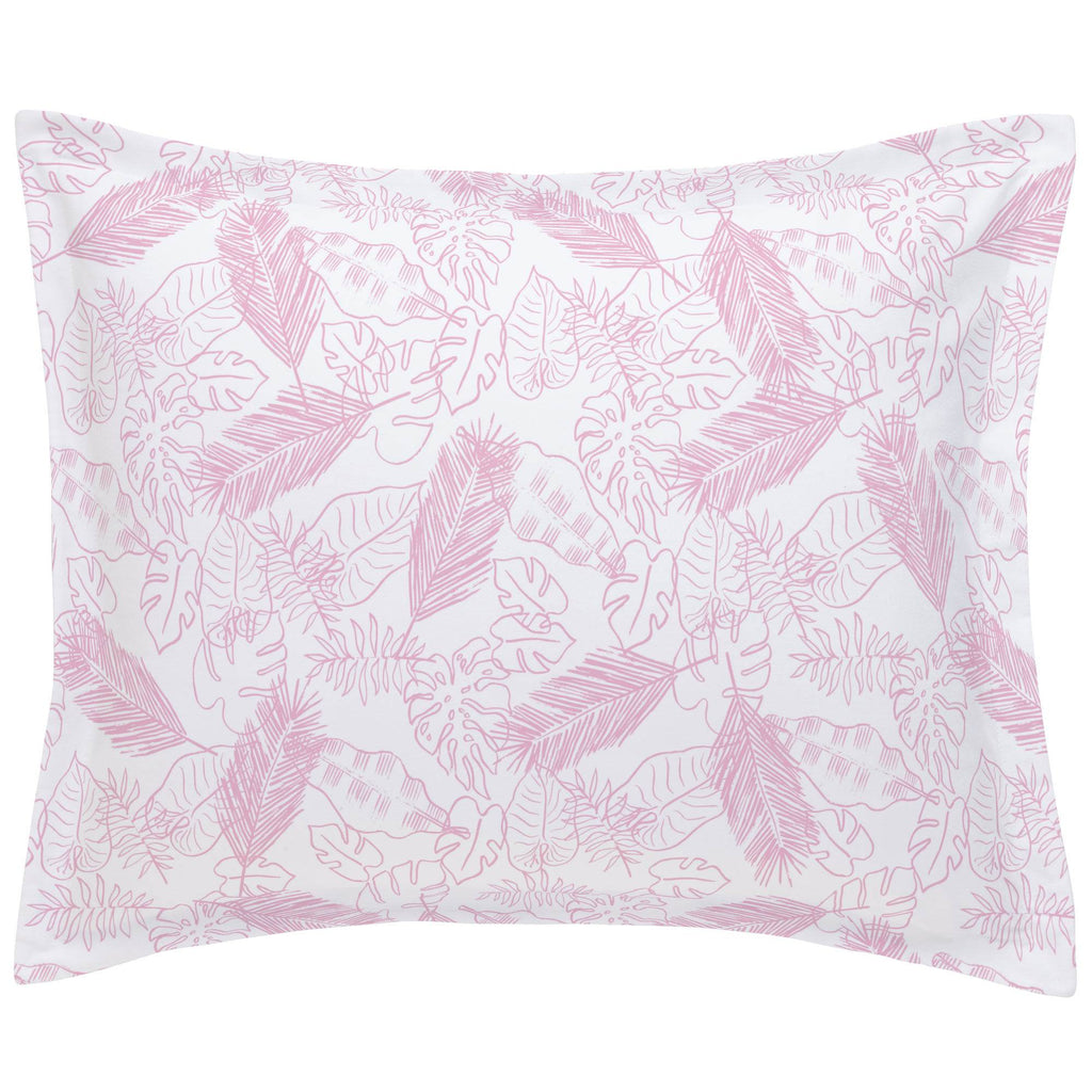 Product image for Bubblegum Palm Leaves Pillow Sham