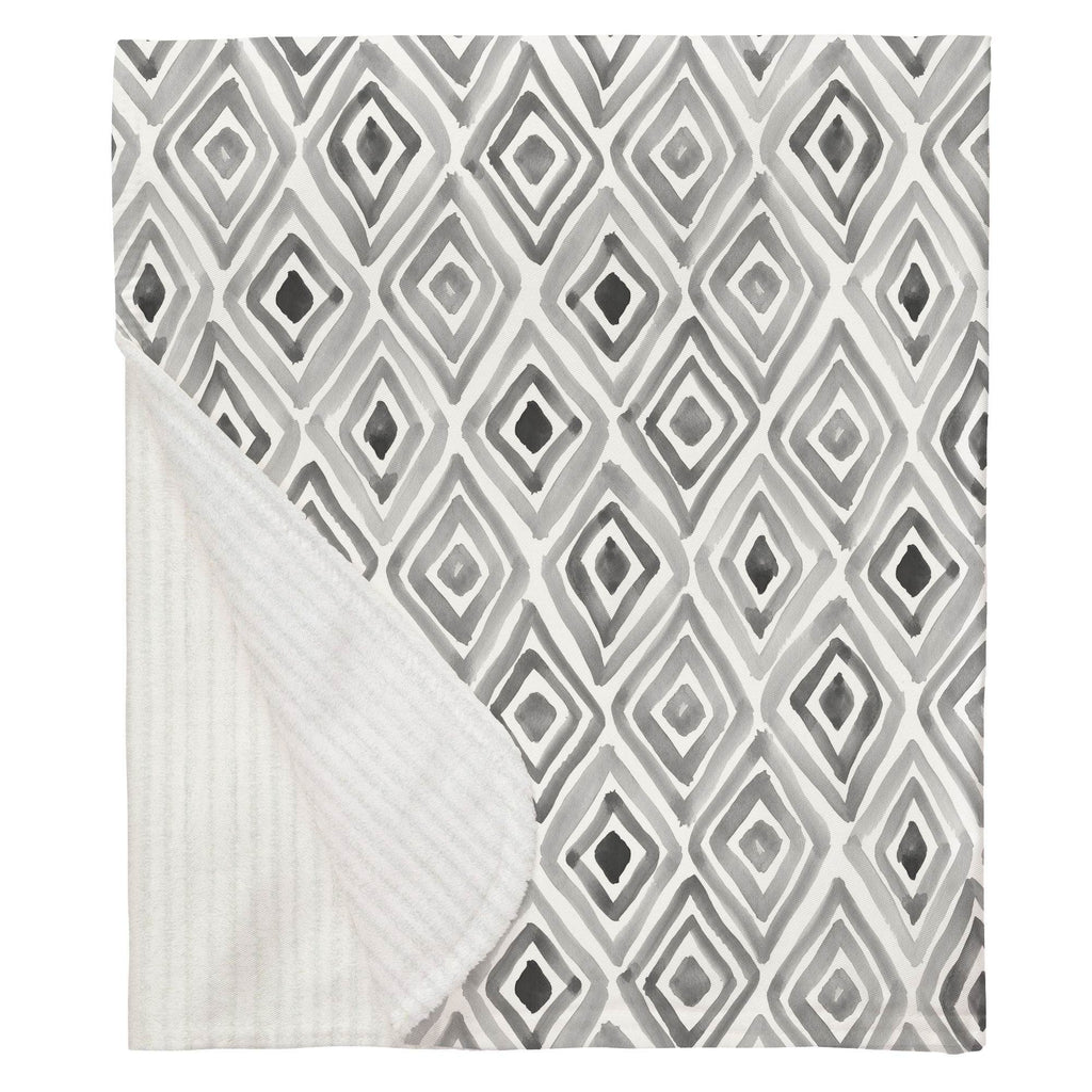 Product image for Gray Painted Diamond Baby Blanket