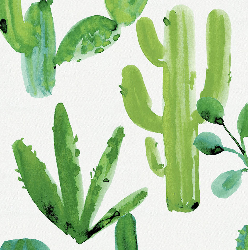 Product image for Green Painted Cactus Fabric