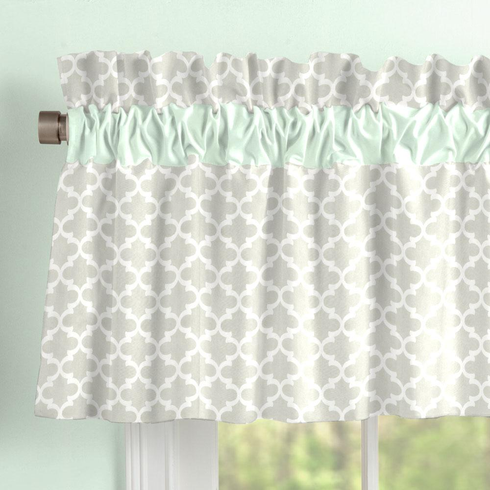 Product image for French Gray Quatrefoil Window Valance
