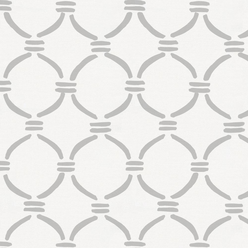 Product image for Silver Gray Lattice Circles Fabric