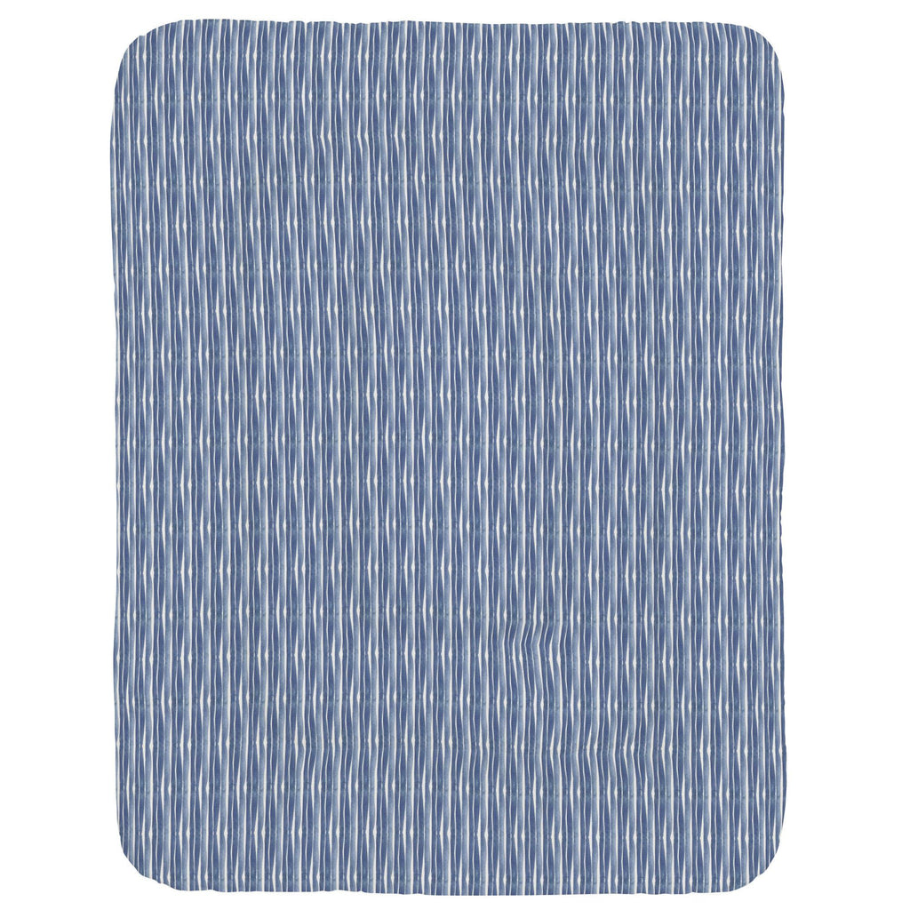 Product image for Blue Ocean Stripe Crib Comforter