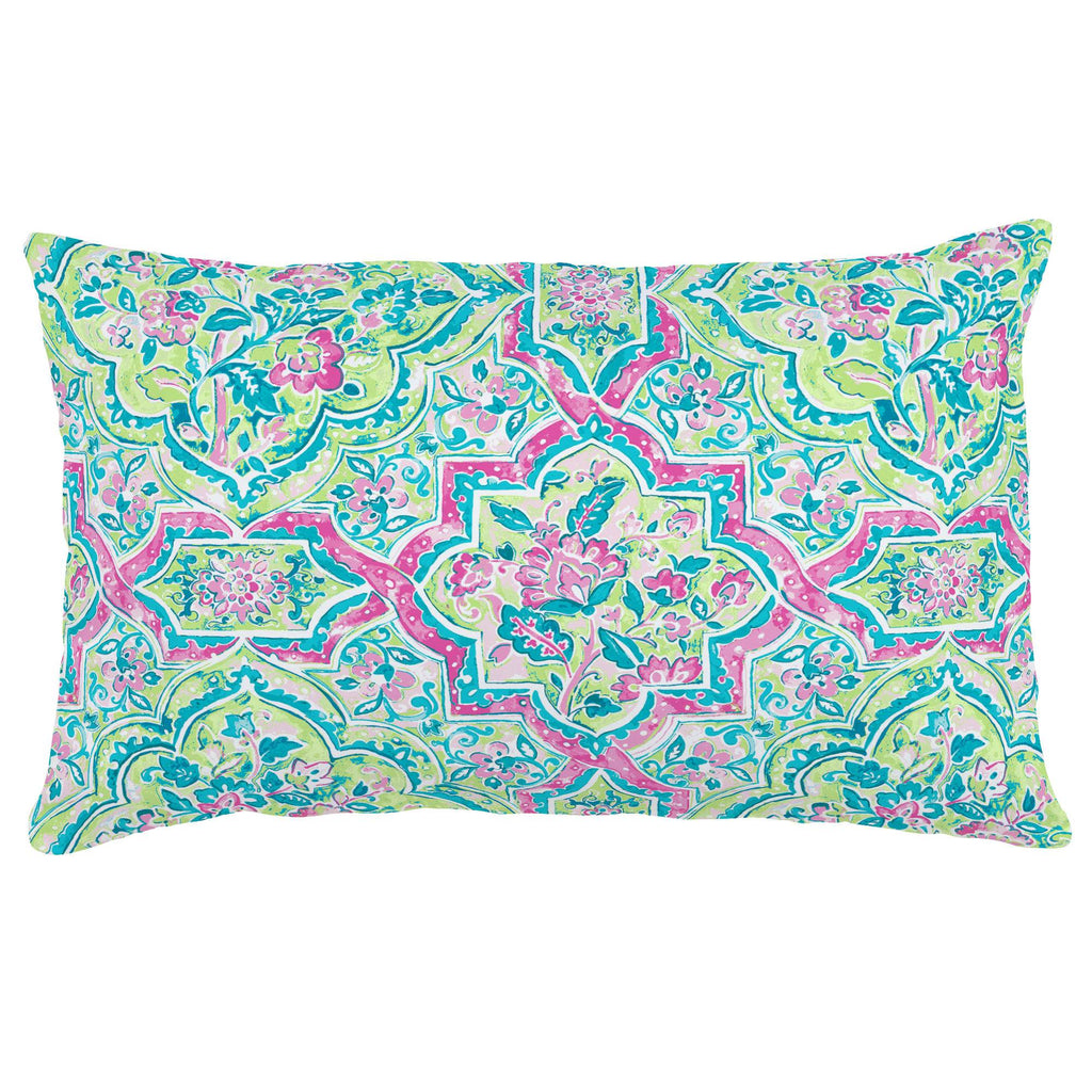Product image for Pink Watercolor Medallion Lumbar Pillow