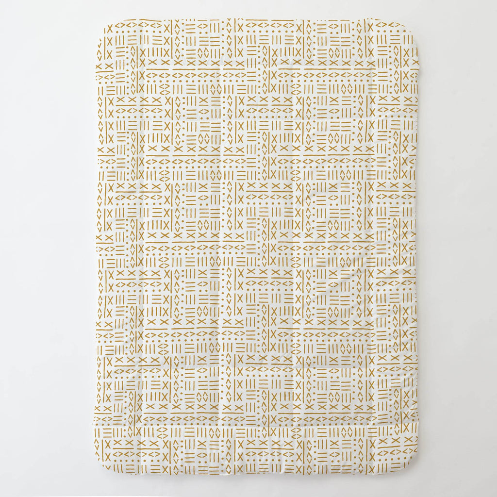 Product image for Mustard Mudcloth Toddler Comforter
