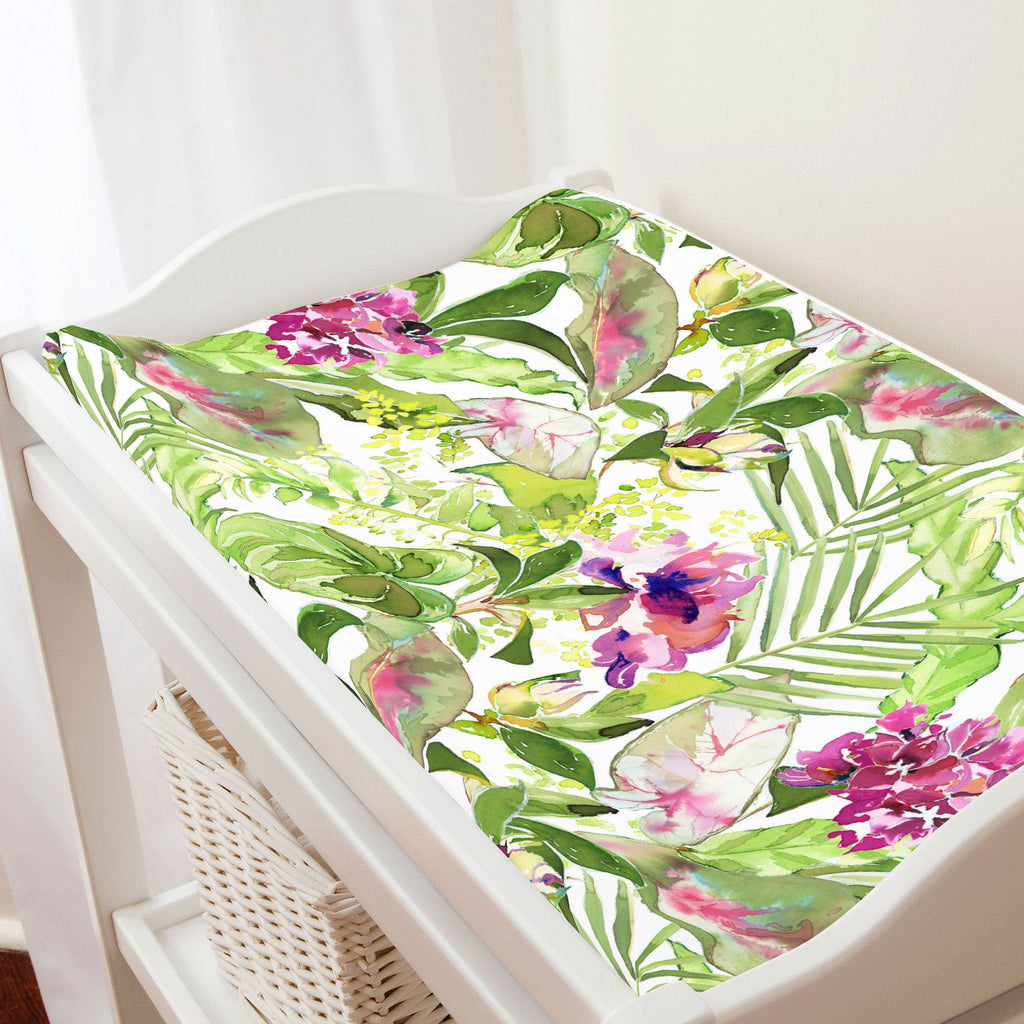 Product image for Tropical Garden Changing Pad Cover