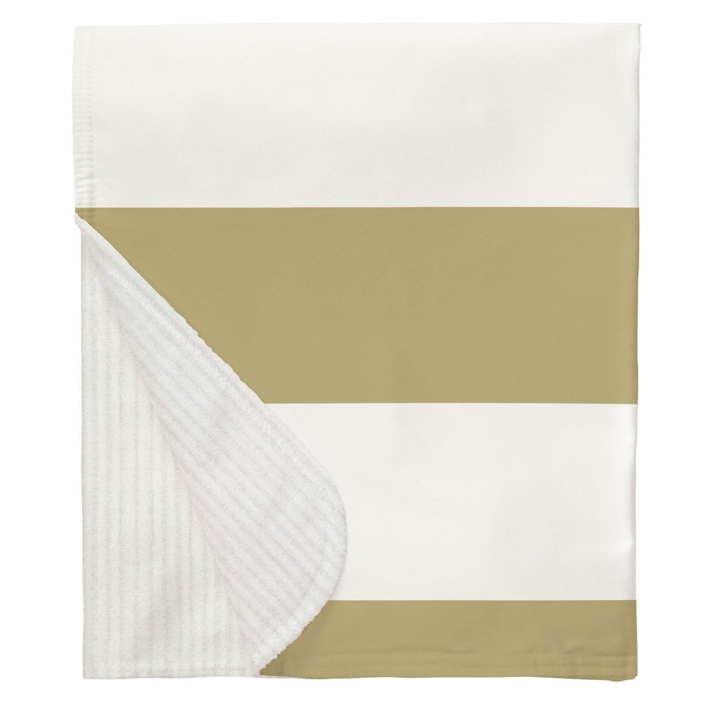 Product image for Tan Horizontal Stripe Baby Blanket