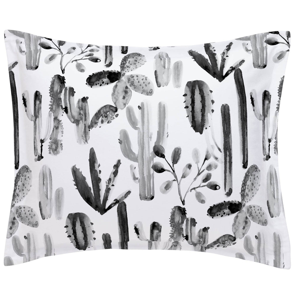 Product image for Charcoal Painted Cactus Pillow Sham