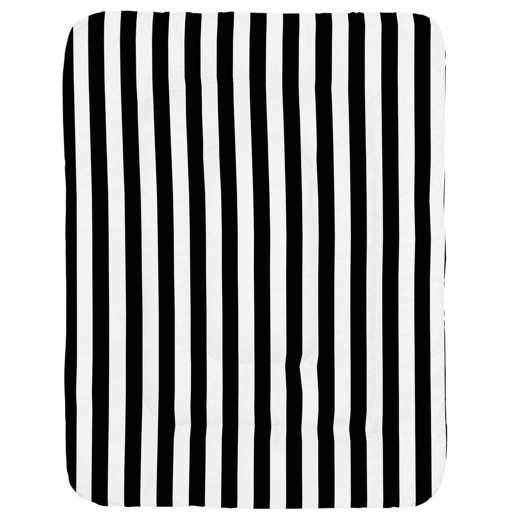 Product image for Onyx and White Stripe Crib Comforter