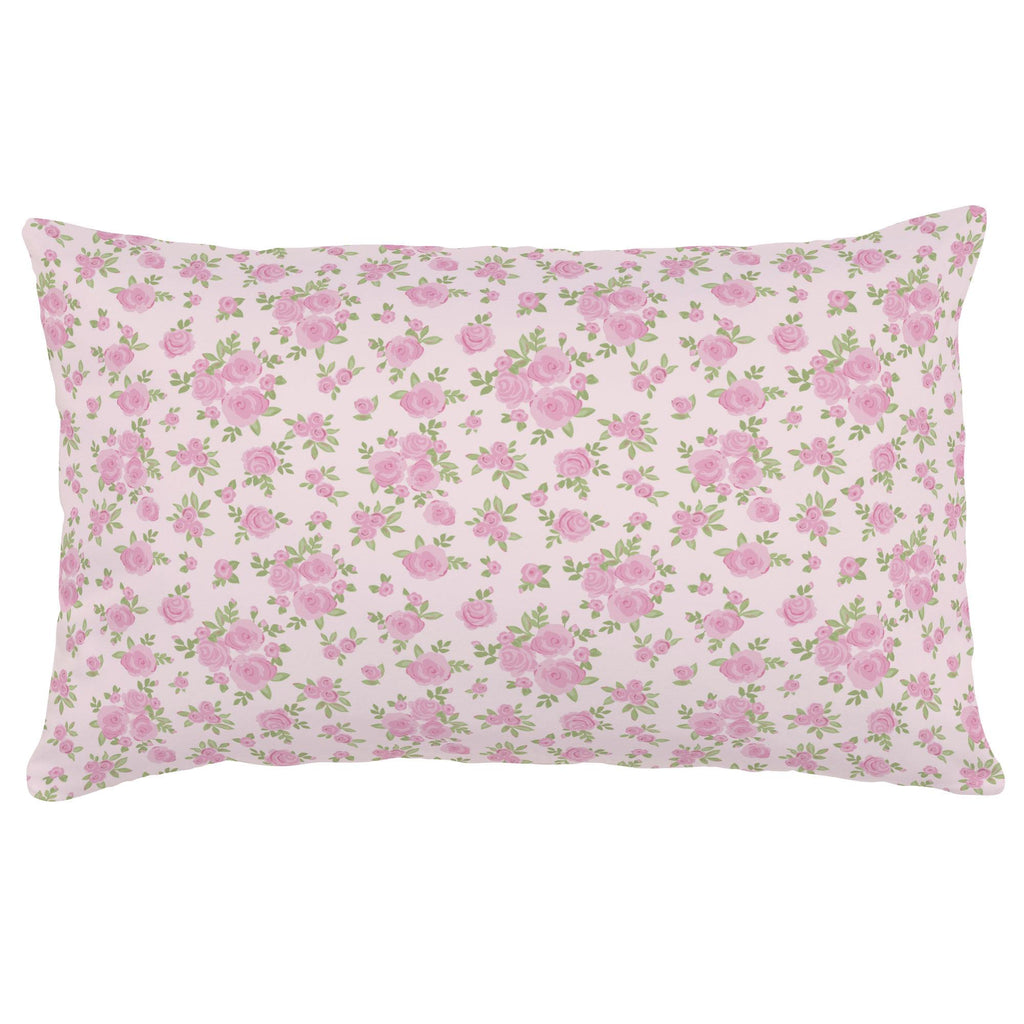 Product image for Pink Rosettes Lumbar Pillow