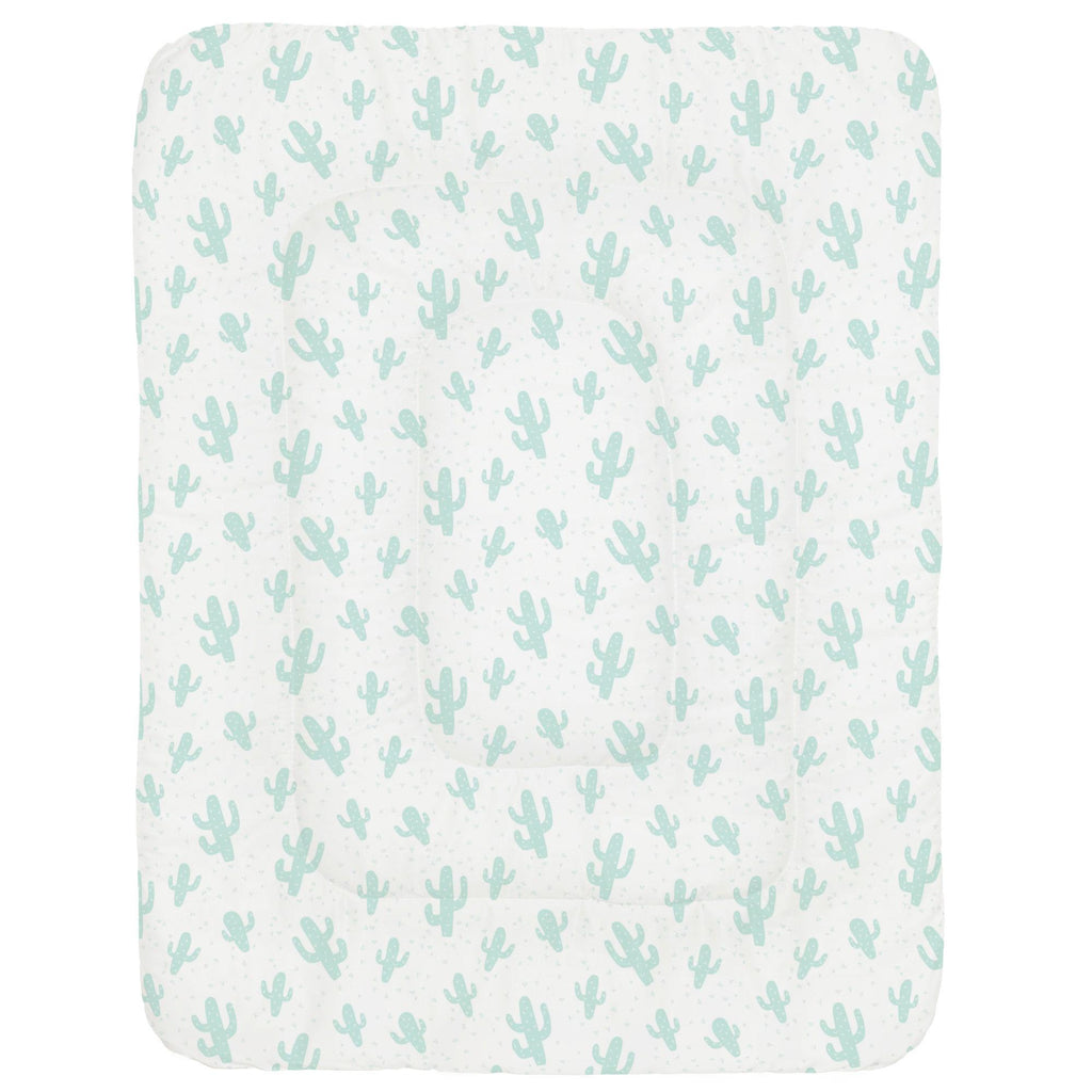 Product image for Icy Mint Cactus Crib Comforter