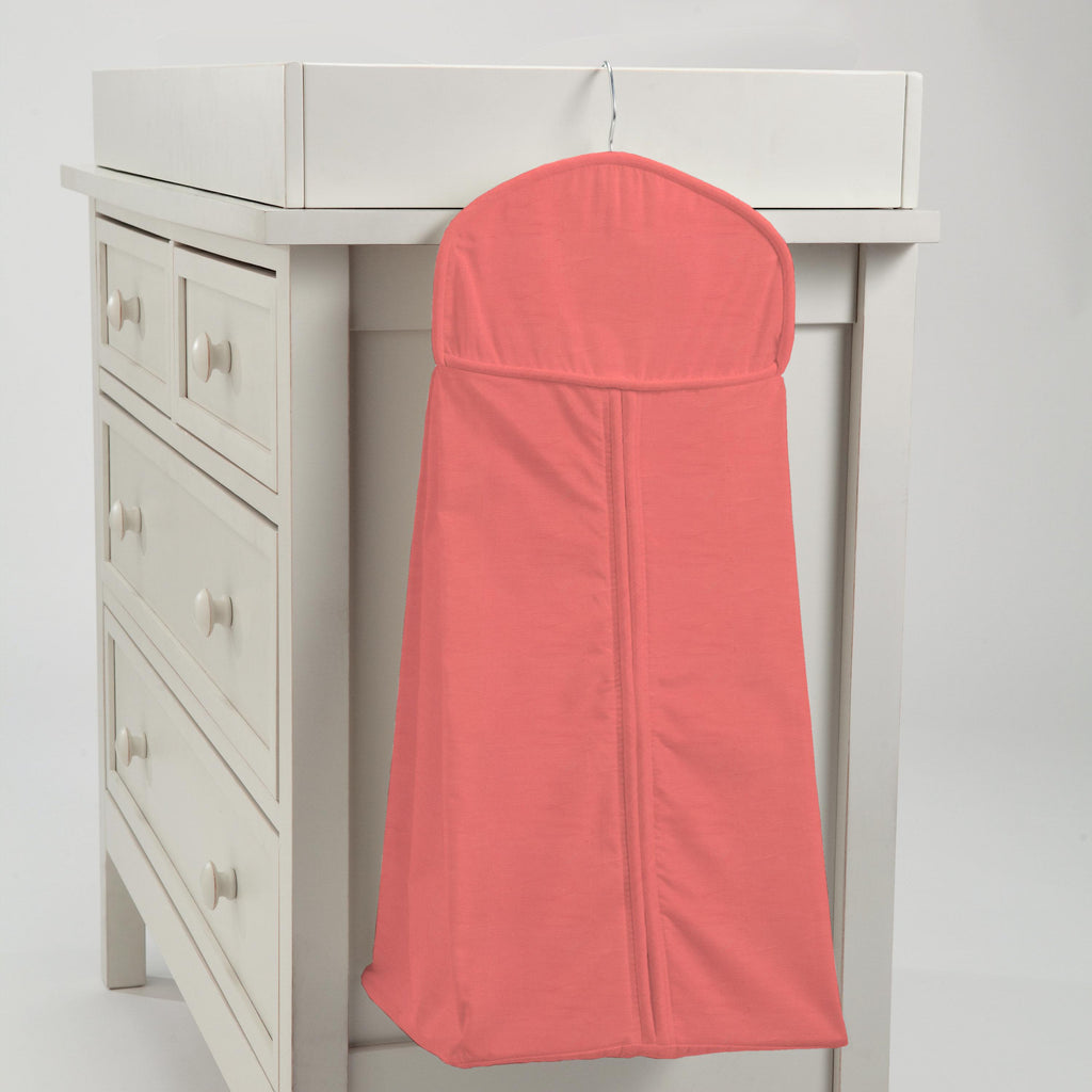 Product image for Solid Coral Diaper Stacker