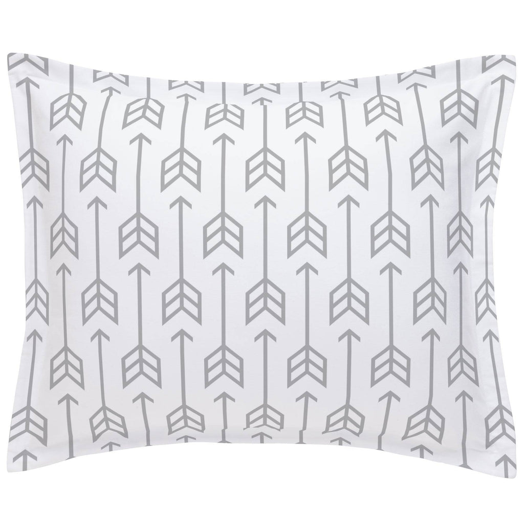 Product image for Silver Gray Arrow Pillow Sham