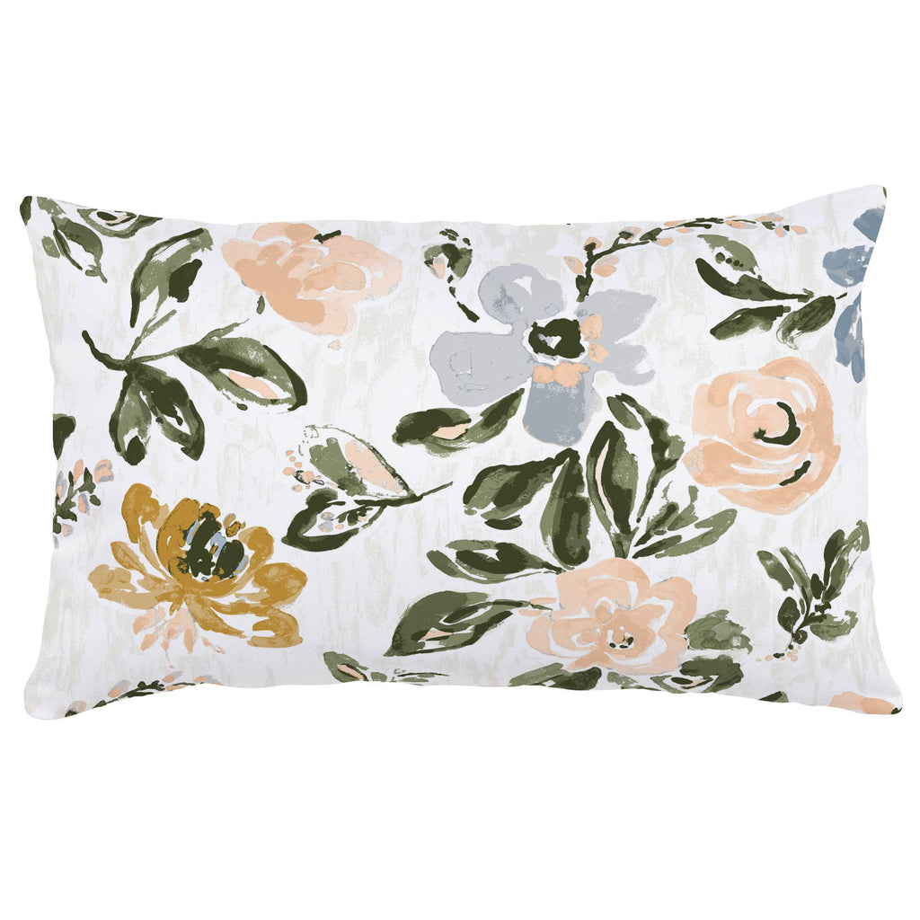 Product image for Blush Garden Lumbar Pillow