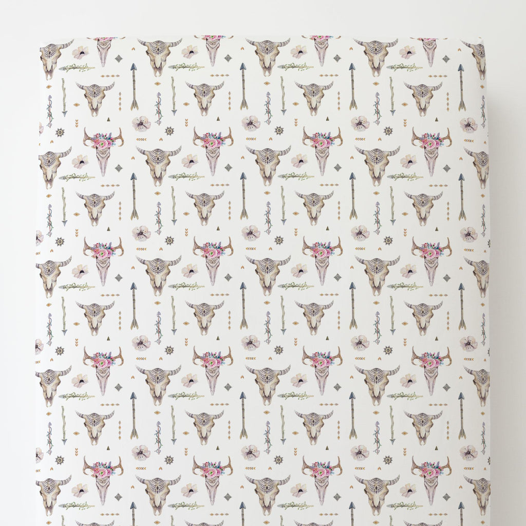 Product image for Pink Boho Toddler Sheet Bottom Fitted