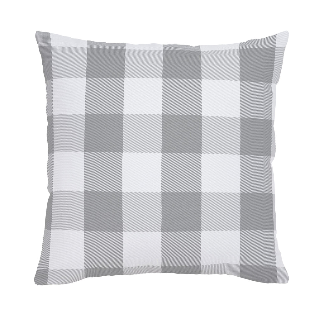 Product image for Gray Buffalo Check Throw Pillow