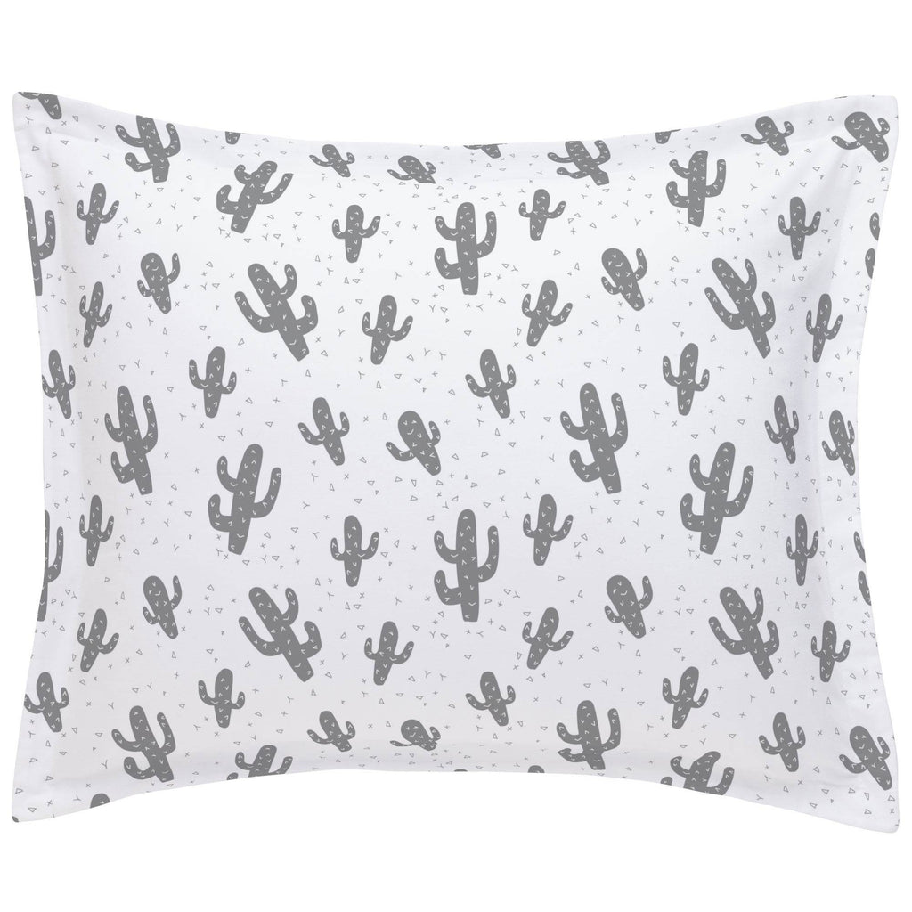 Product image for Cloud Gray Cactus Pillow Sham