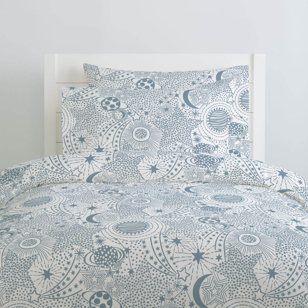Product image for Steel Blue Galaxy Duvet Cover