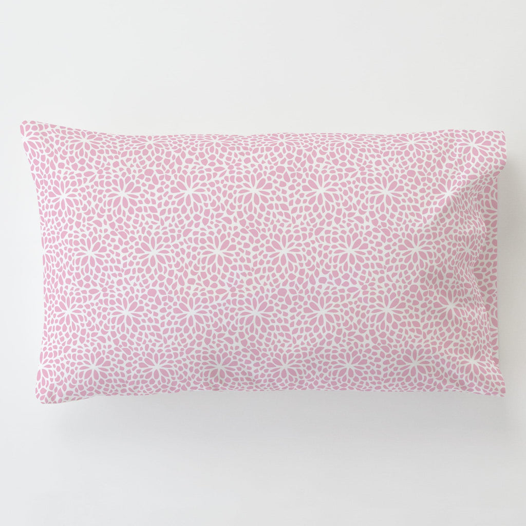 Product image for Bubblegum Pink Modern Mums Toddler Pillow Case with Pillow Insert