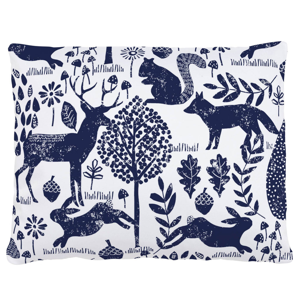 Product image for Navy Woodland Animals Accent Pillow