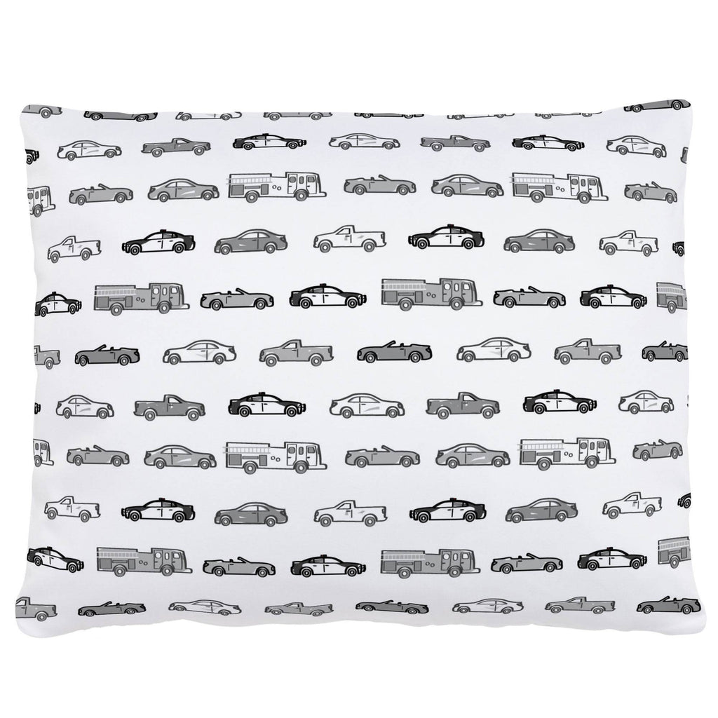 Product image for Gray Modern Cars Accent Pillow