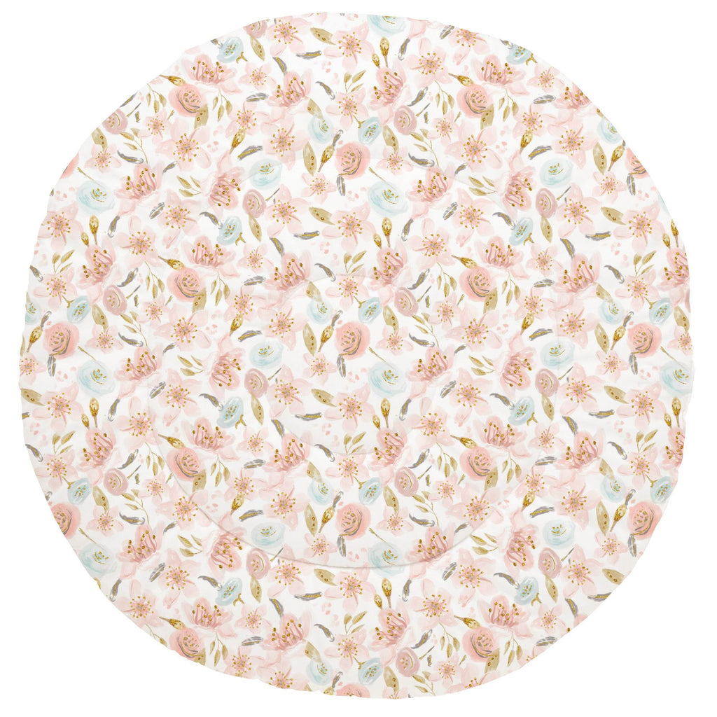 Product image for Pink Hawaiian Floral Baby Play Mat
