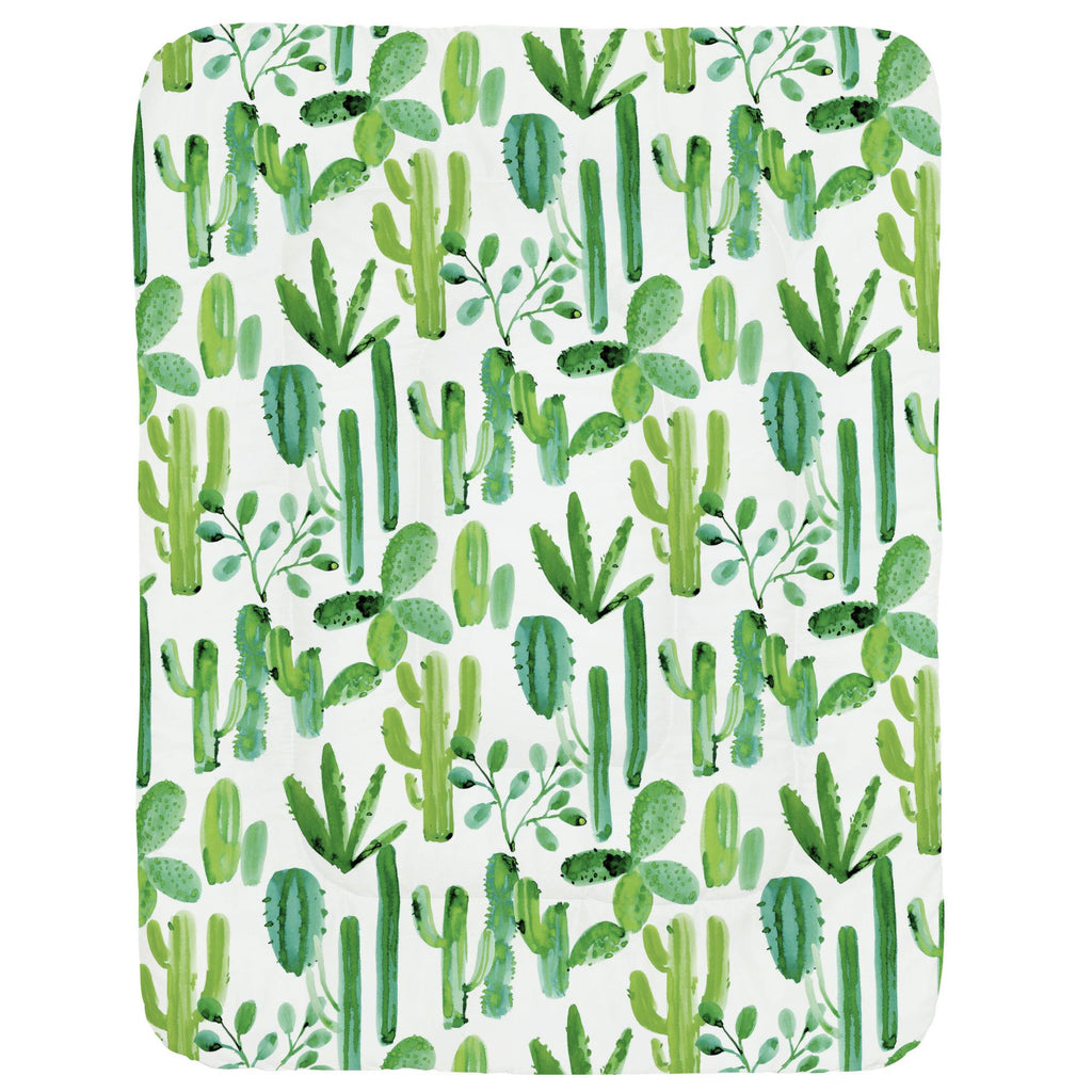 Product image for Green Painted Cactus Crib Comforter