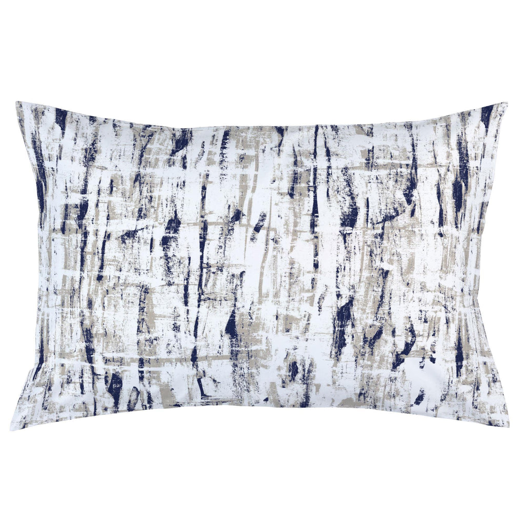 Product image for Navy and Taupe Birch Pillow Case
