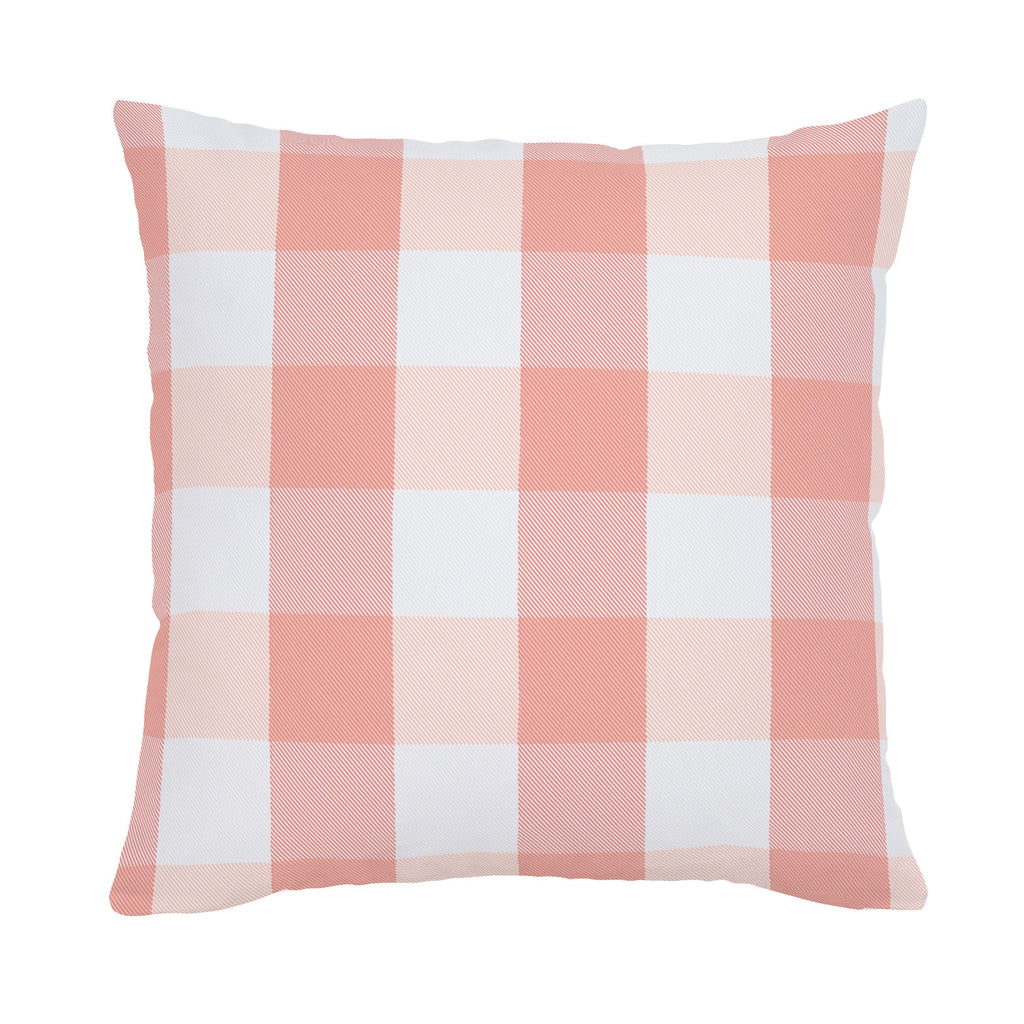 Product image for Light Coral and Peach Buffalo Check Throw Pillow