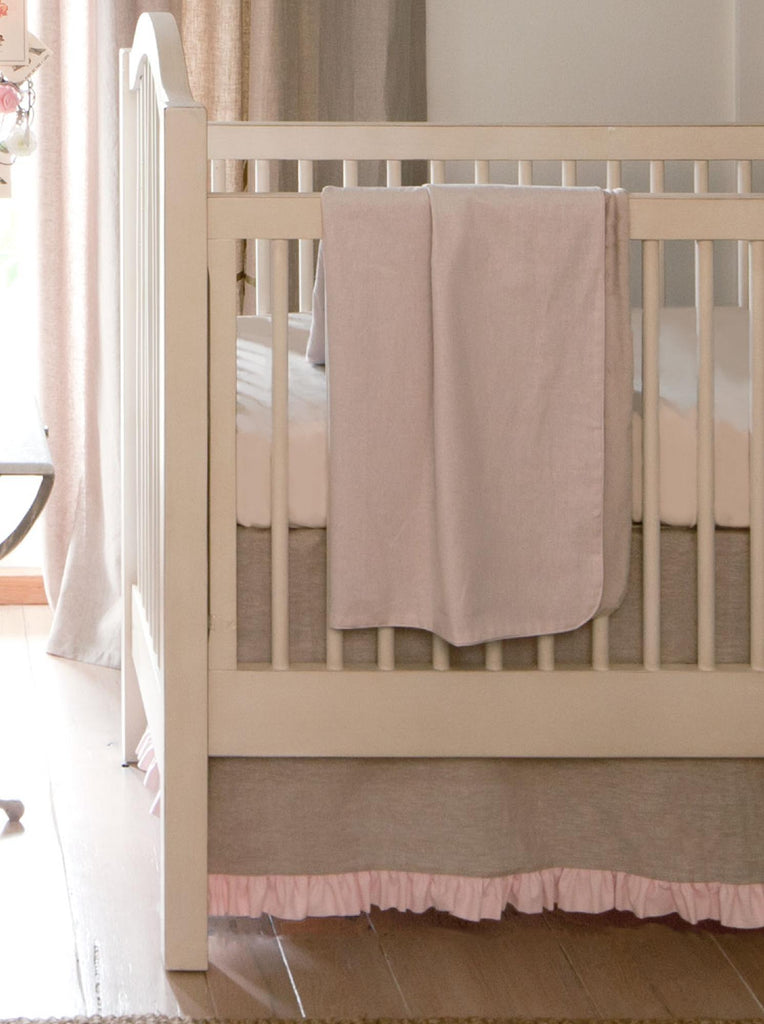 Product image for Light Pink Linen Baby Blanket