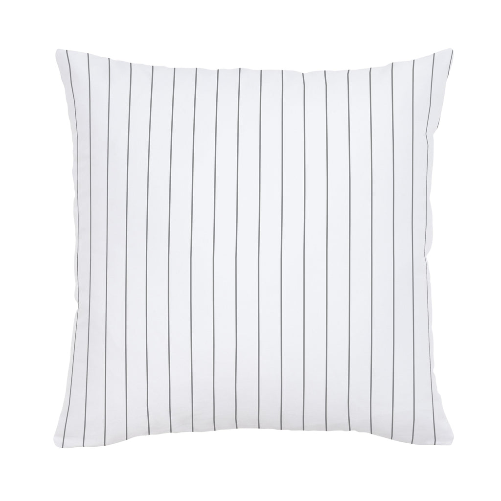 Product image for Cloud Gray Pinstripe Throw Pillow