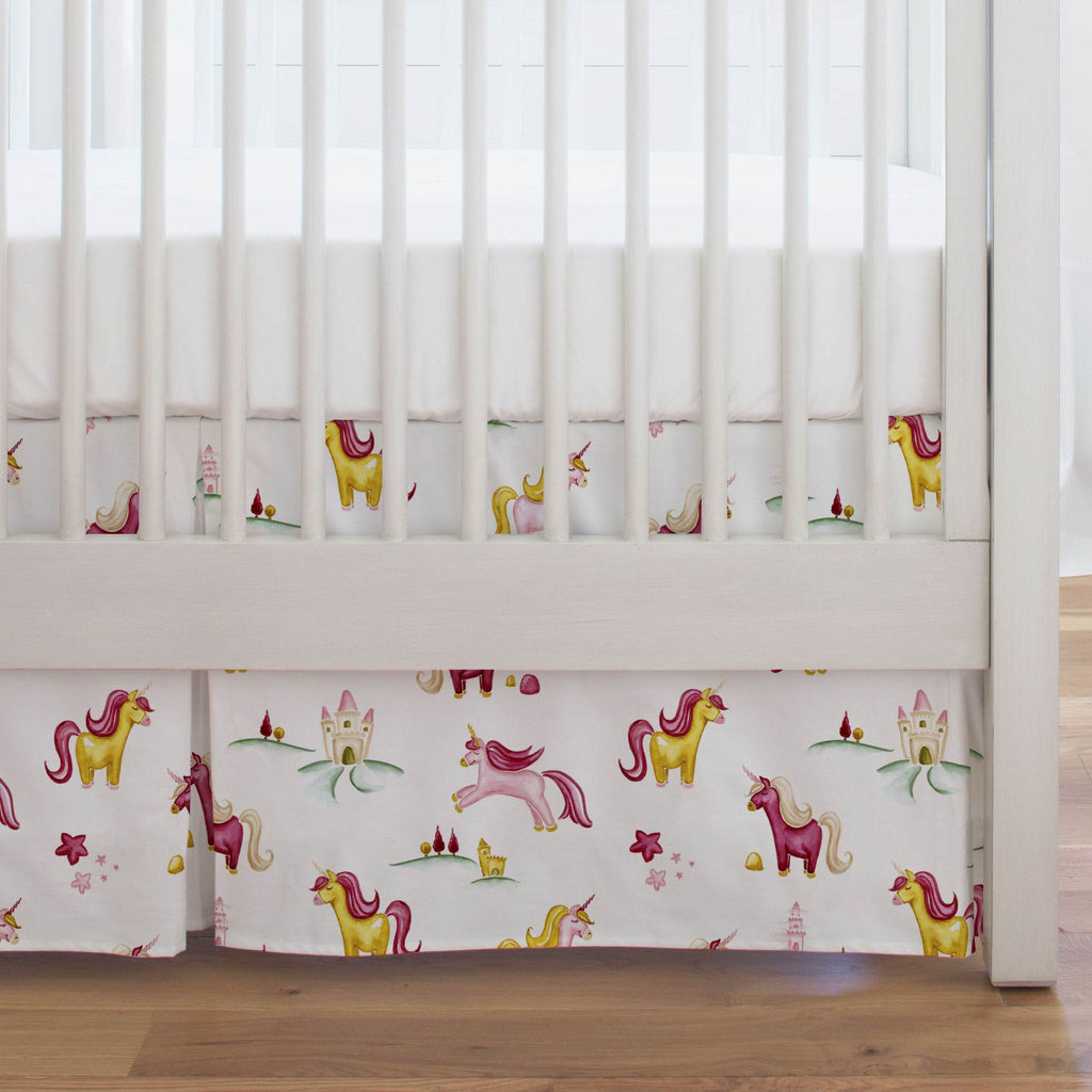 Product image for Painted Unicorns Crib Skirt Single-Pleat