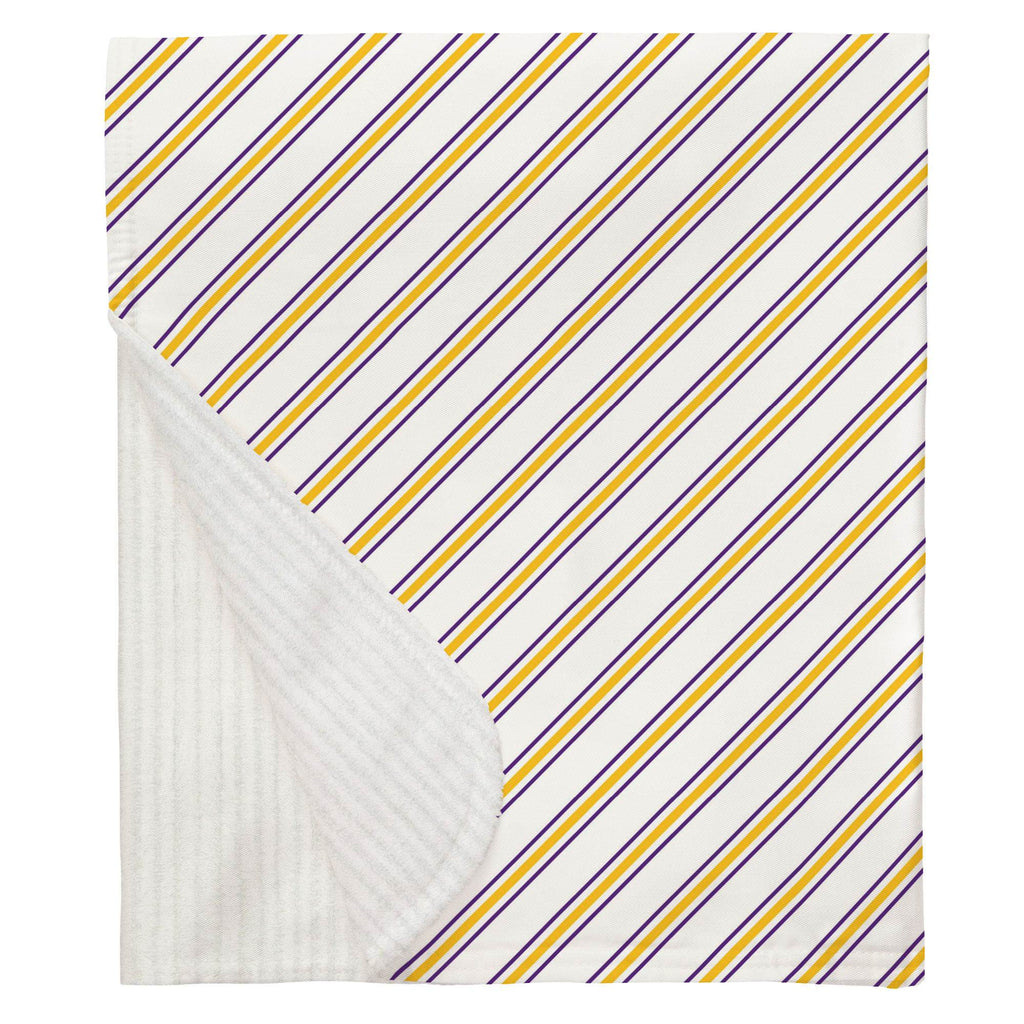 Product image for Purple and Yellow Necktie Stripe Baby Blanket