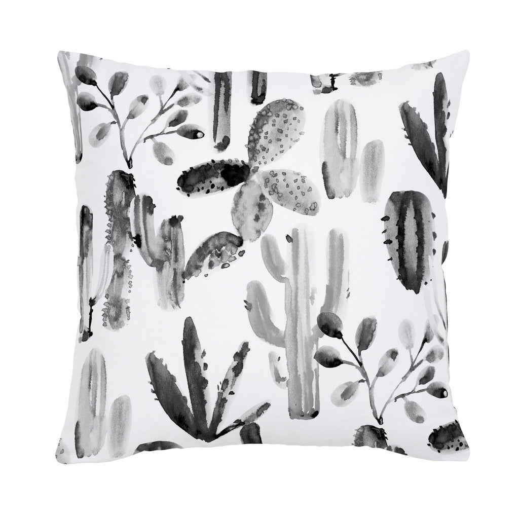 Product image for Charcoal Painted Cactus Throw Pillow