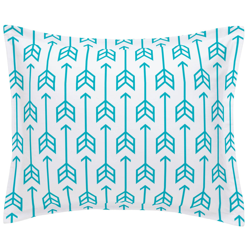 Product image for Teal Arrow Pillow Sham