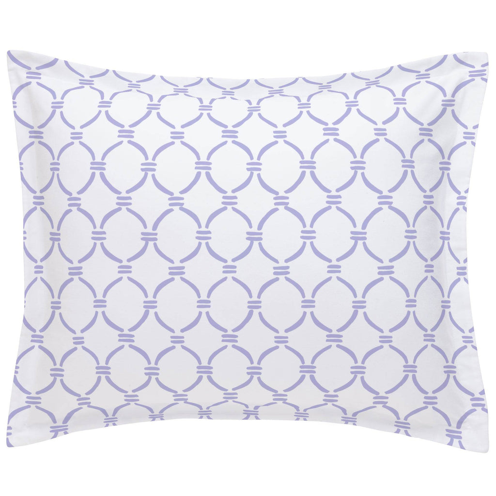 Product image for Lilac Lattice Circles Pillow Sham