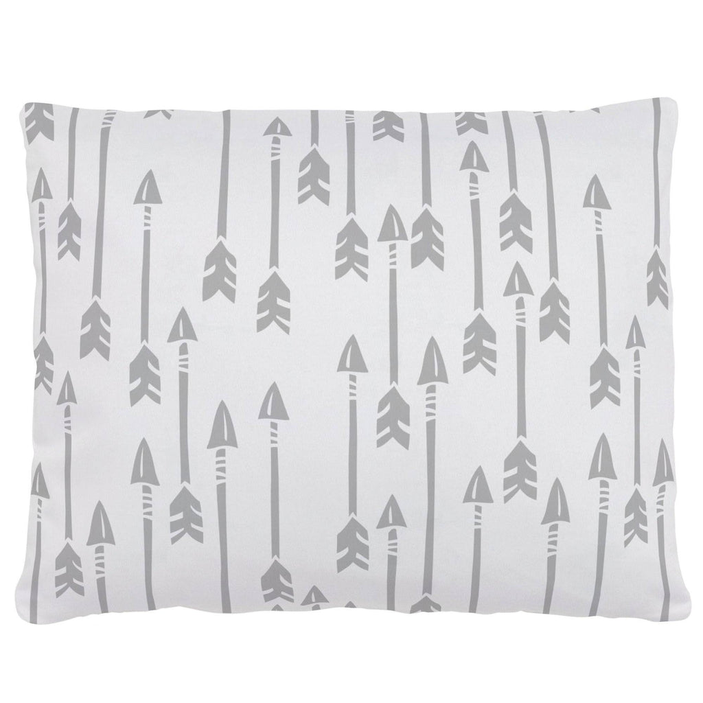 Product image for Silver Gray Flying Arrow Accent Pillow