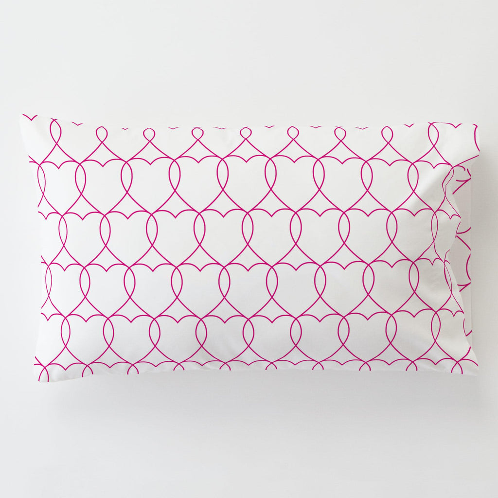 Product image for Fuchsia Sweetheart Toddler Pillow Case with Pillow Insert
