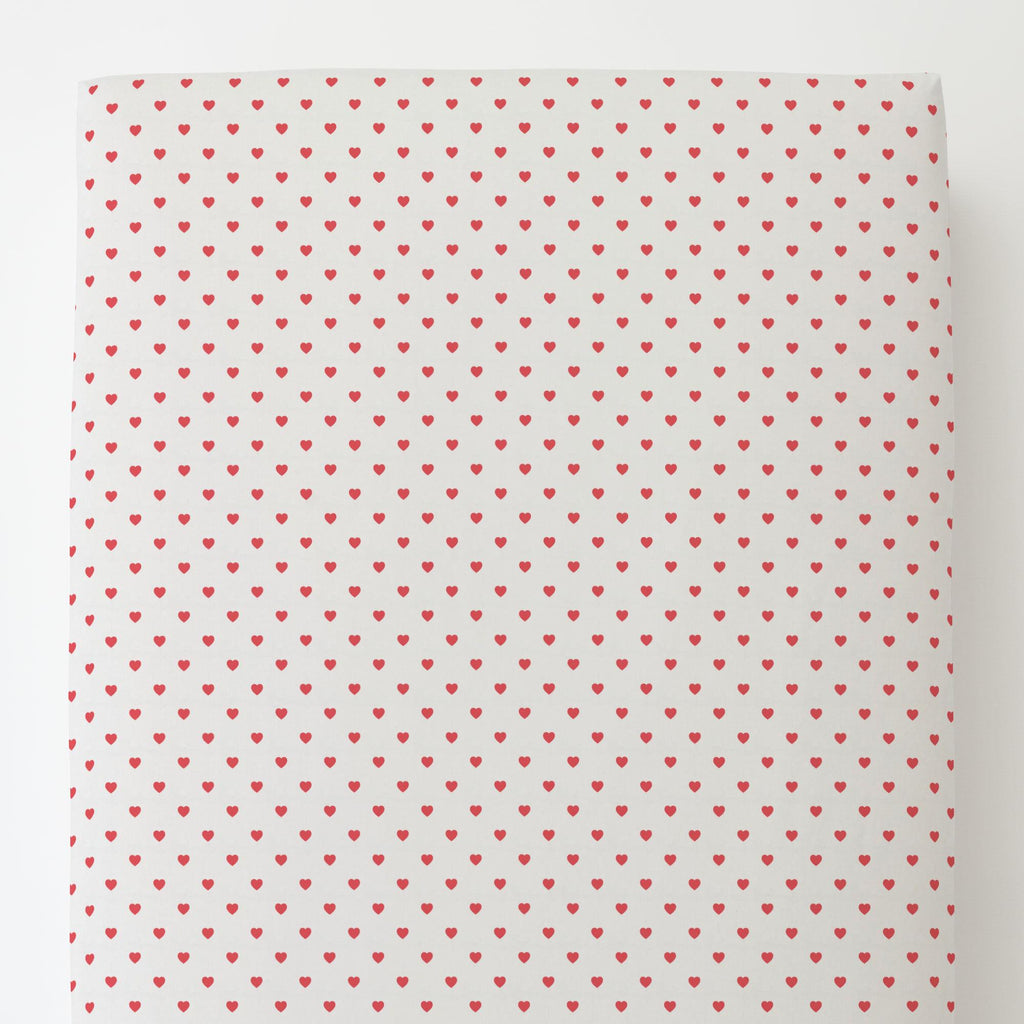 Product image for Coral Hearts Toddler Sheet Bottom Fitted