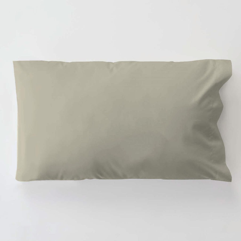 Product image for Solid Taupe Toddler Pillow Case with Pillow Insert