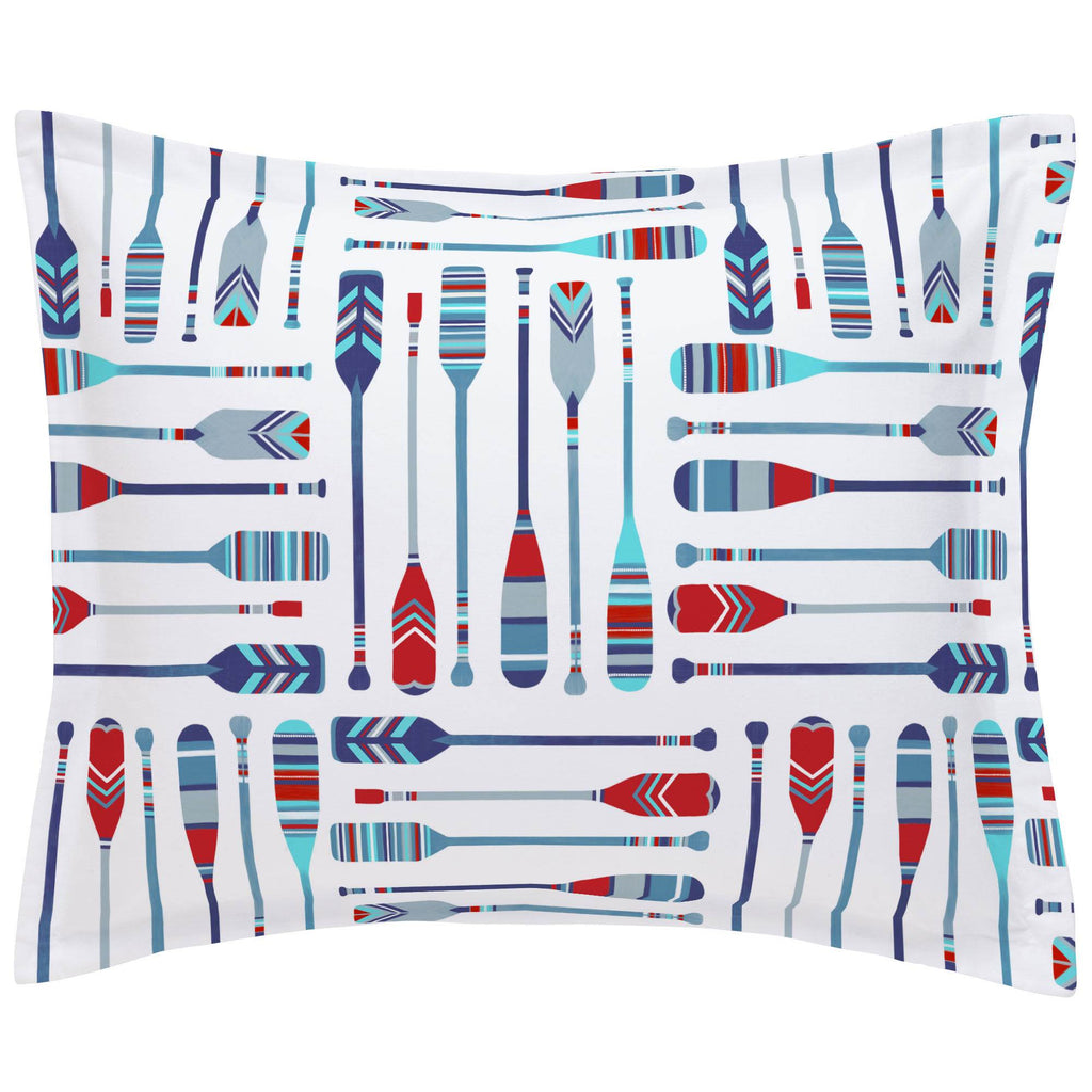 Product image for Red and Blue Oars Pillow Sham