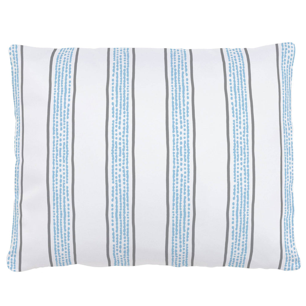 Product image for Gray and Lake Blue Beach Stripe Accent Pillow