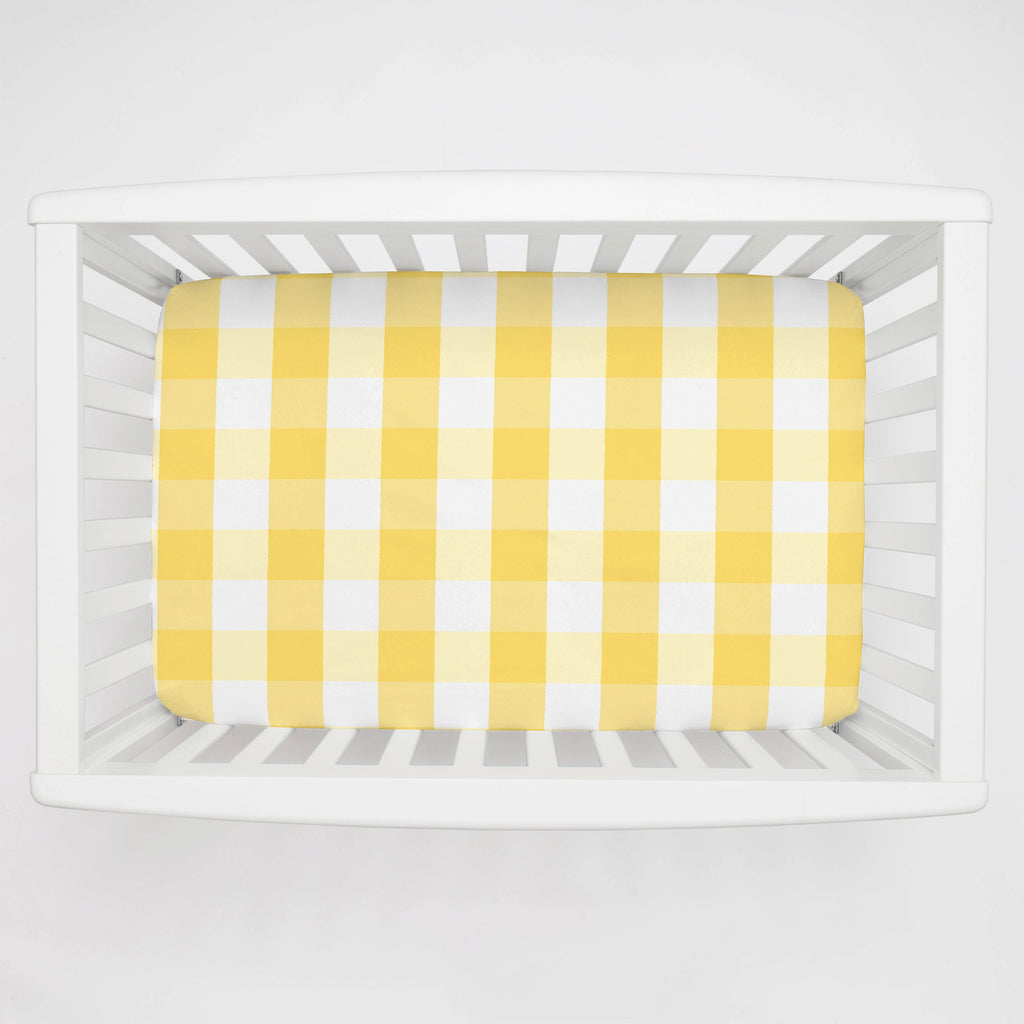 Product image for Saffron Buffalo Check Mini Crib Sheet