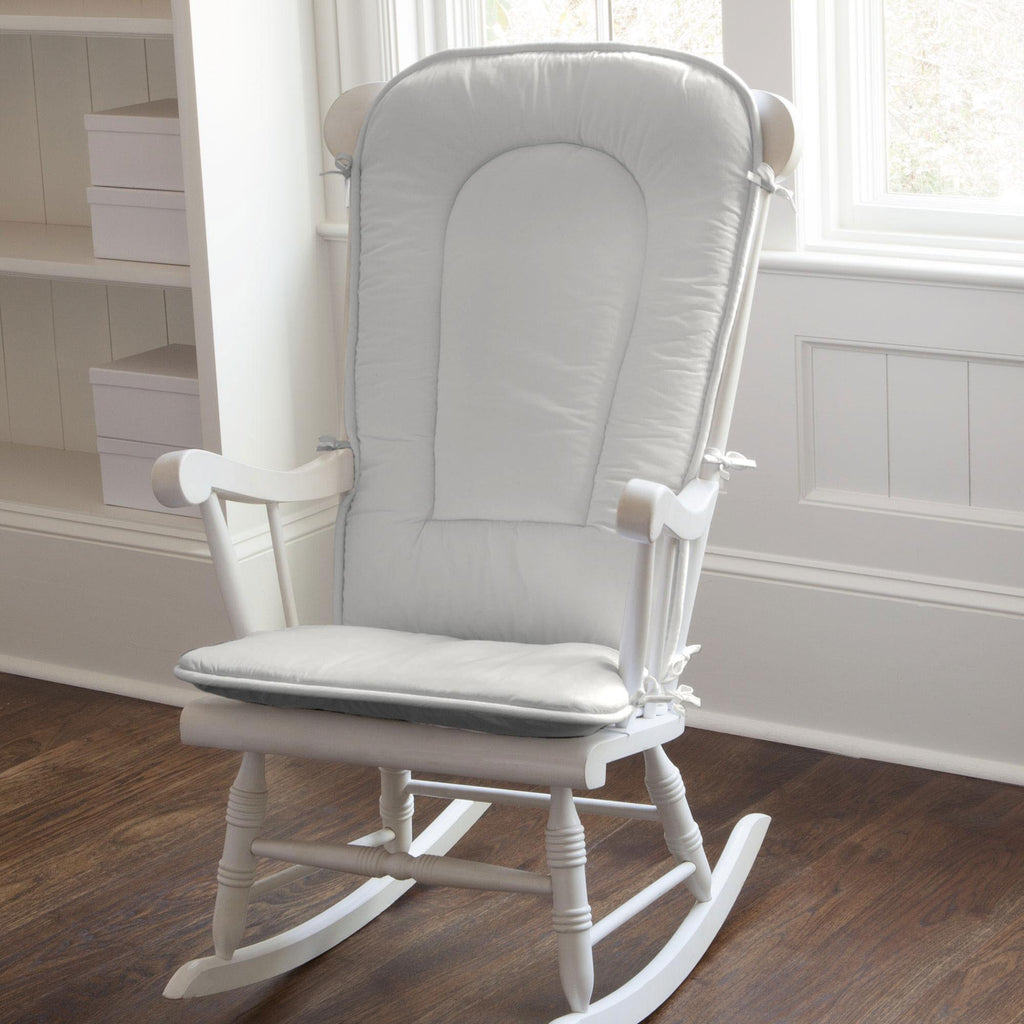 Product image for Solid Silver Gray Rocking Chair Pad