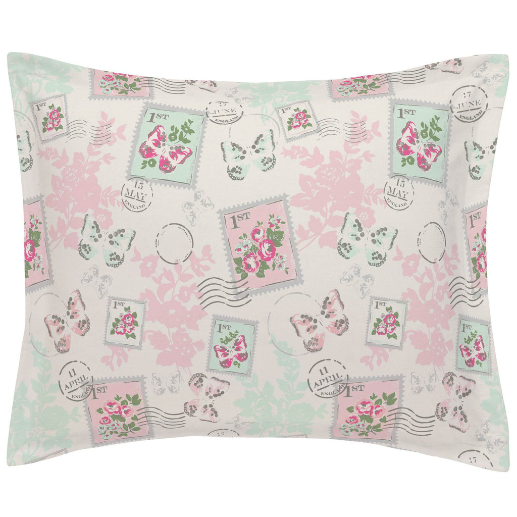 Product image for Blush and Ivory Vintage Stamp Pillow Sham