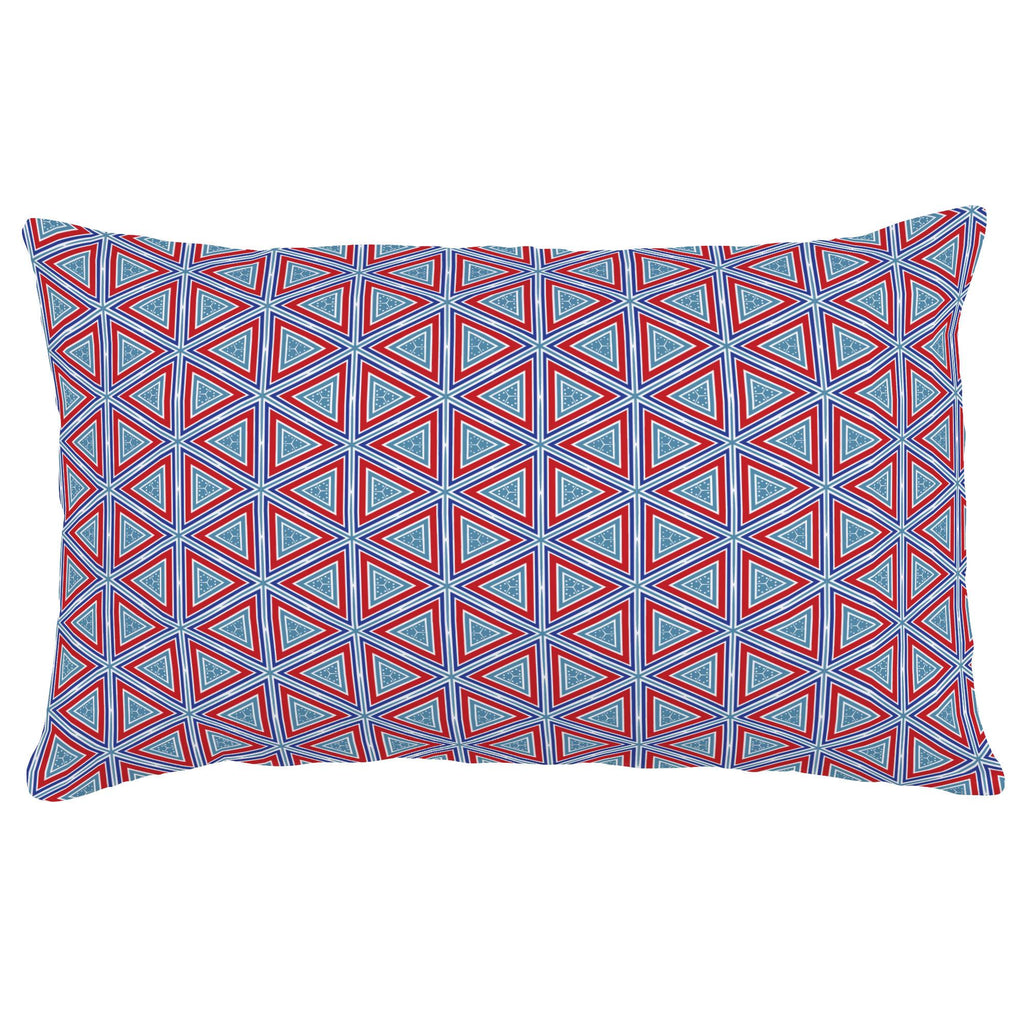 Product image for Red Nautical Triangles Lumbar Pillow