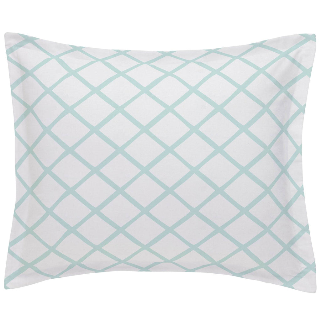 Product image for Icy Mint Trellis Pillow Sham
