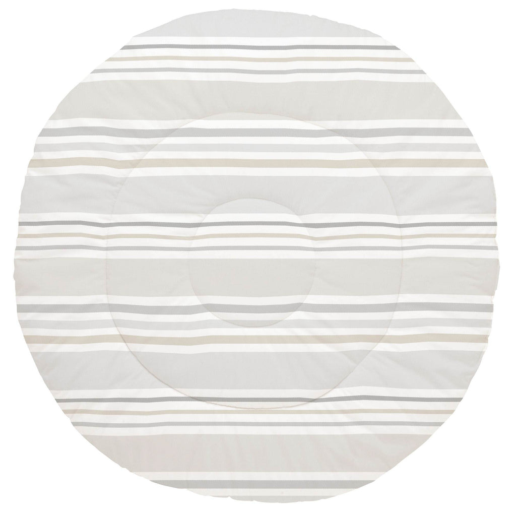 Product image for French Gray and Taupe Summer Stripe Baby Play Mat